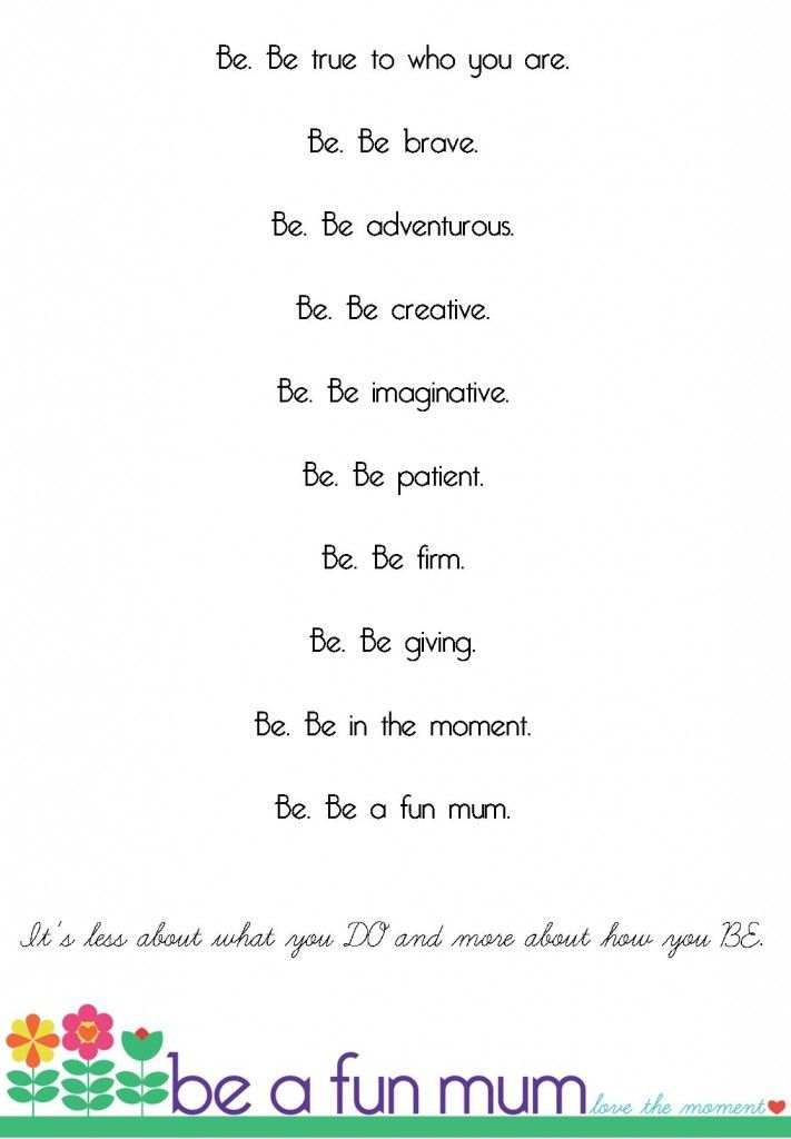 How to be a fun mum