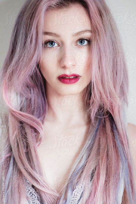 Portrait Of A Beautiful Young Woman With Blue Eyes And Pink Hair By Jovana Rikalo Hair Art Photography Pink Hair Woman With Blue Eyes