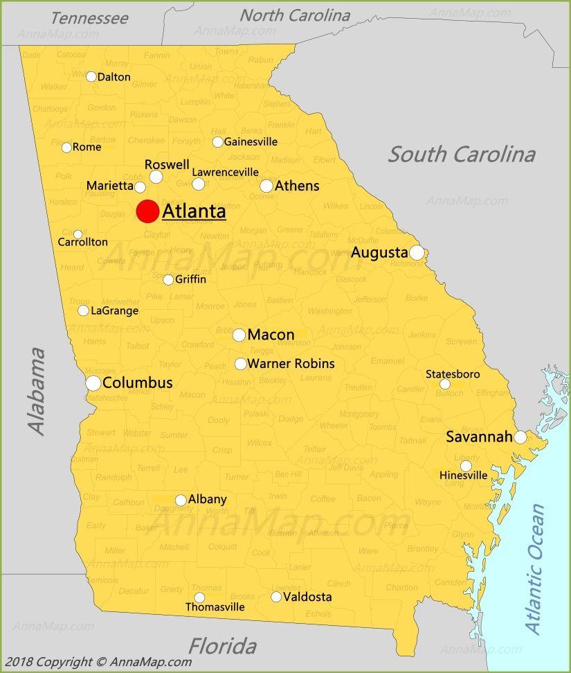 Map Of Georgia United States.Georgia Map Georgia United States Map Georgia State Map