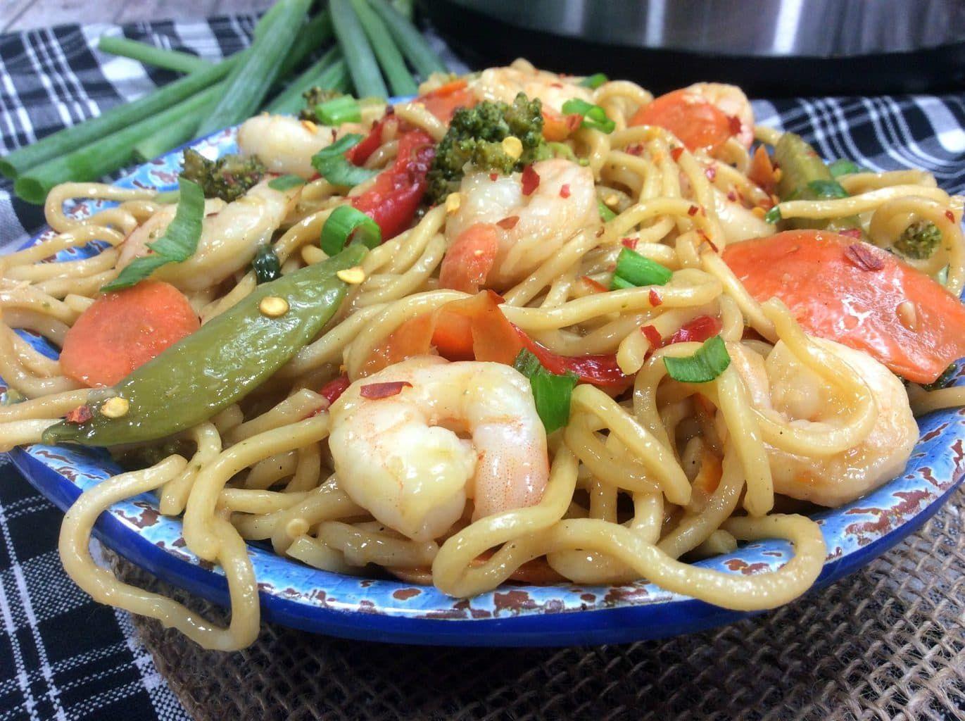 Instant Pot Shrimp Lo Mein Recipe Potted shrimp, Asian