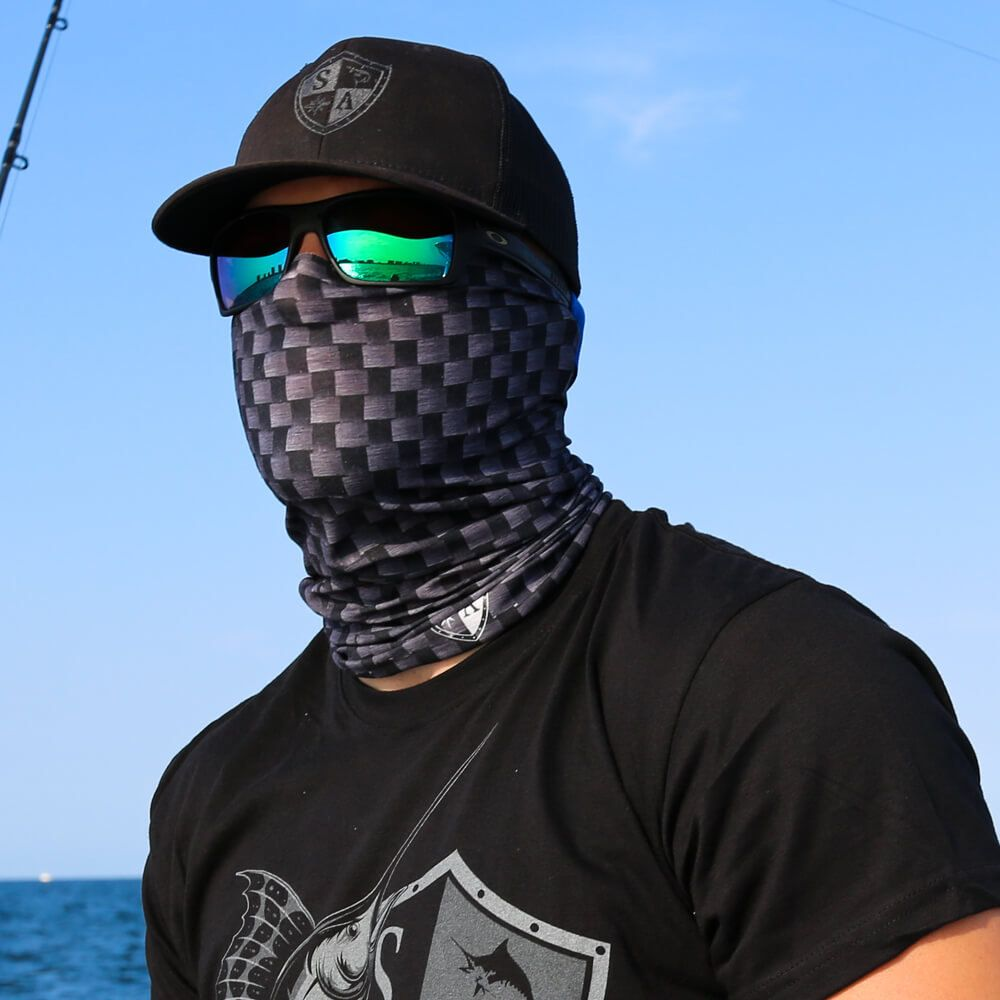Buff 4 Way Stretch New Cashmere Black Biker Motorcycle Face Mask Neck Tube