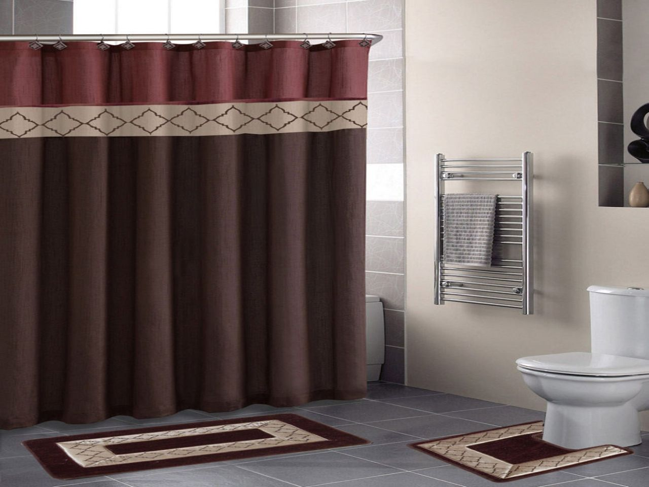 Bathroom rugs and shower curtains ideas pinterest bathroom trends