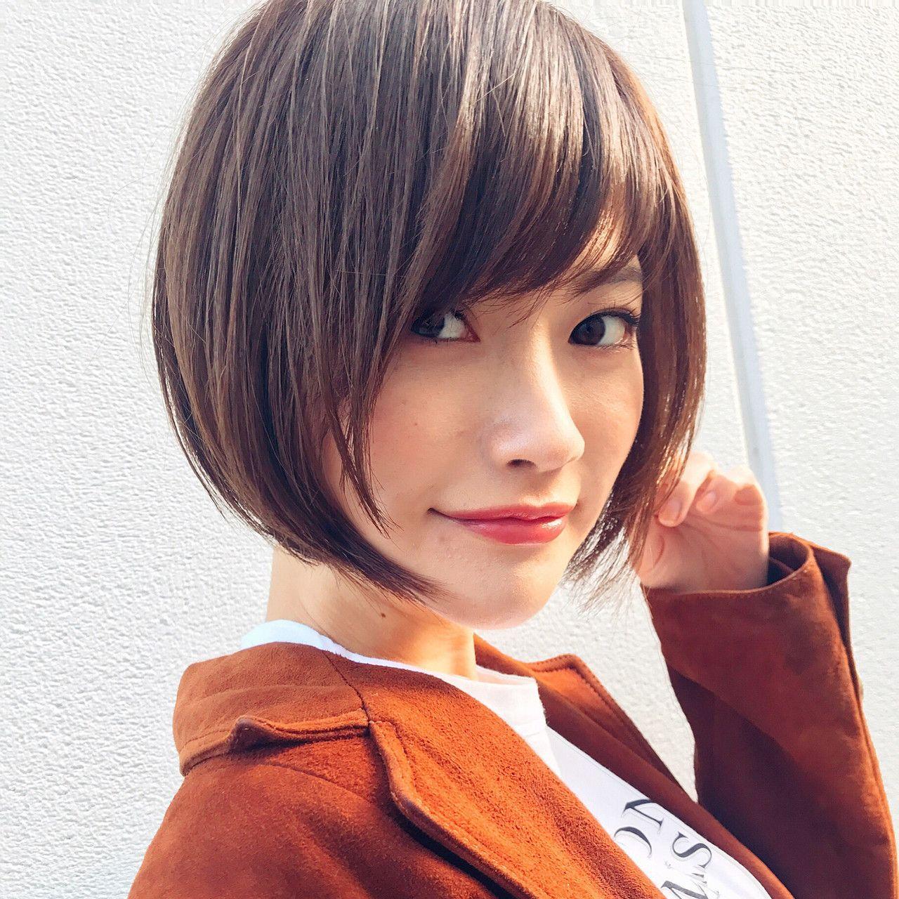 黒髪がベスト 丸顔さんに似合う髪型カタログ ヘアスタイル 髪型 ヘアカット
