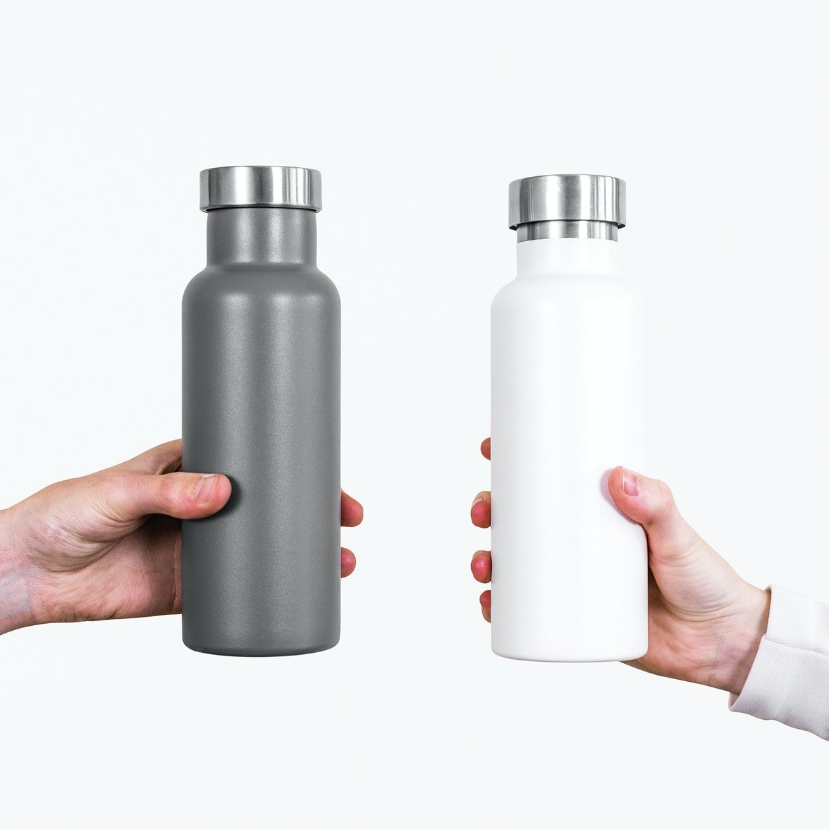 Download Premium Illustration Of Gray And White Water Bottle Psd Mockups White Water Bottle Bottle Mockup Grey And White