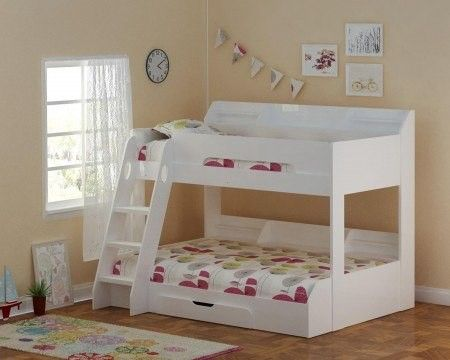 Best Flair Furnishings Flick Triple Bunk Bed White The Flick 400 x 300