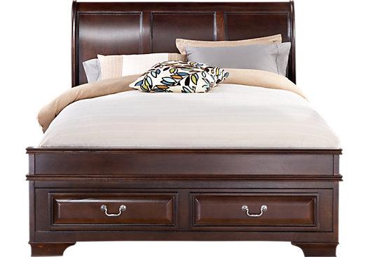 Best Mill Valley Ii Cherry 3 Pc King Sleigh Bed W Storage 400 x 300