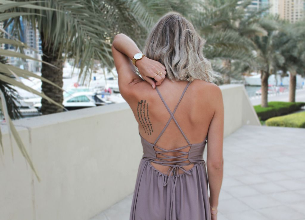 How To: Strappy Back Maxi Dress