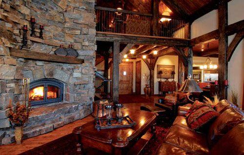 Rustic interior decor.