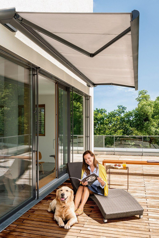 mehr wohnkomfort auf der terrasse dank automatischem sonnenschutz