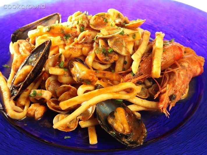 Scialatielli alla pescatora ricetta tipico campania for Pasta tipica italiana