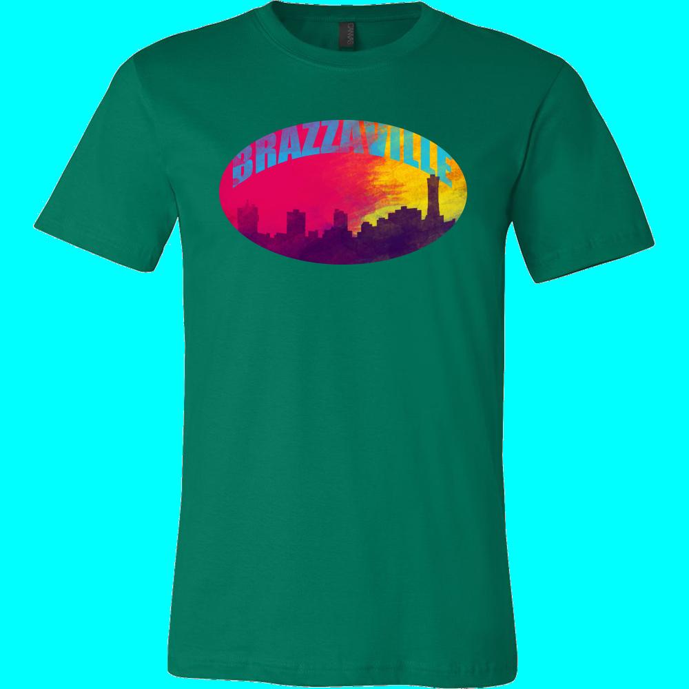 Brazzaville Skyline Horizon Sunset Love Congo Gift T-shirt
