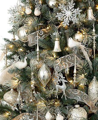 Holiday Lane Christmas Ornaments, Winter Wonderland Tree Theme