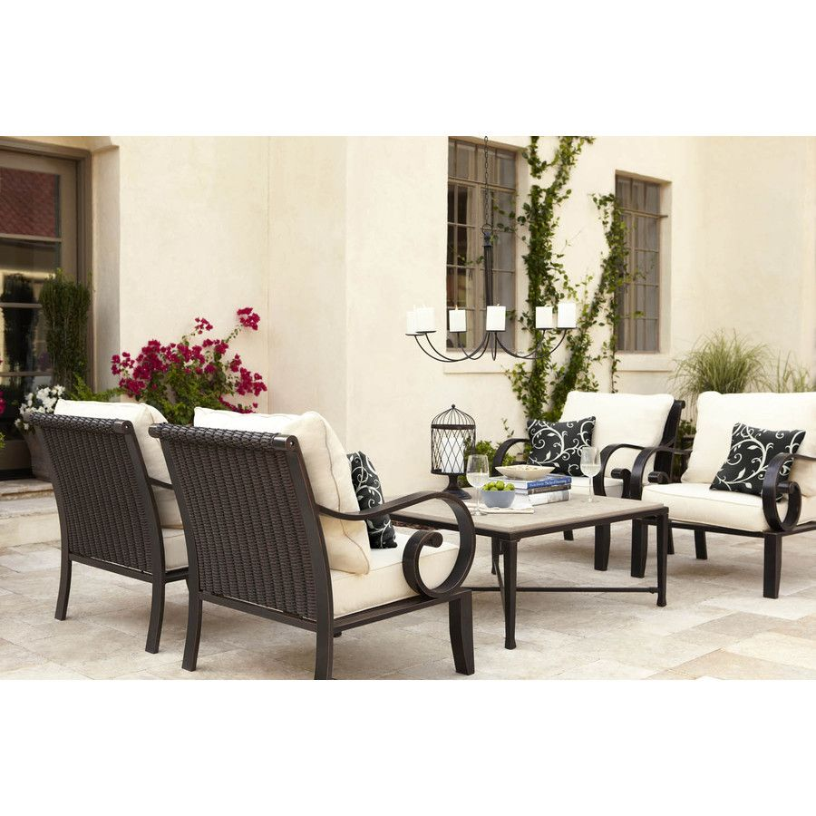 Attrayant Shop Allen + Roth Set Of 2 Pardini Oil Bronze Aluminum Strap Seat Patio  Chairs At