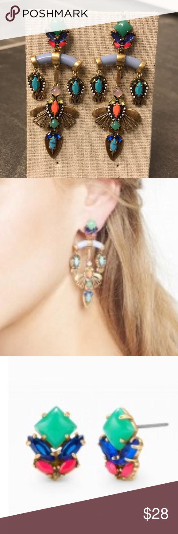 Stella Dot Earrings Cecily Chandelier Can Be Worn As Studs Like New Jewelry