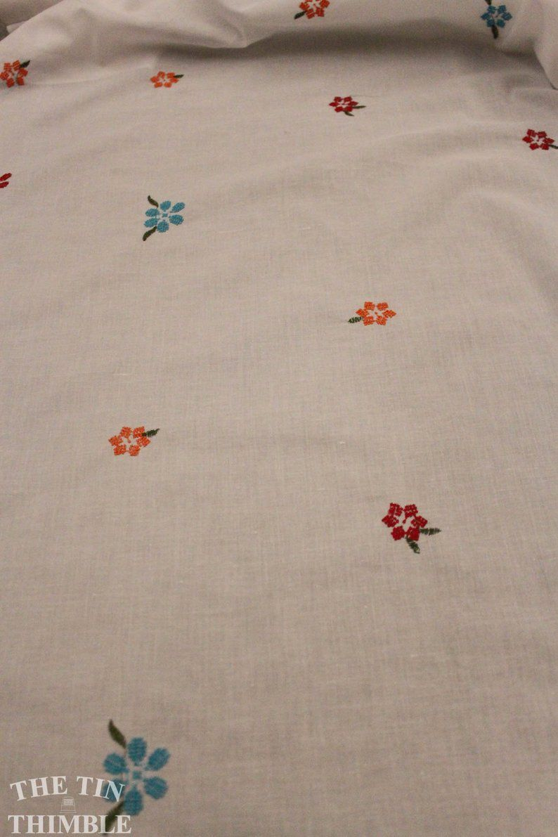 Embroidered Cotton Lawn In White 1