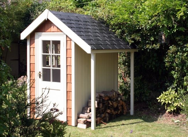 the colonial wood store from the handmade garden storage company lovingly hand made in exeter devon - Garden Sheds Exeter