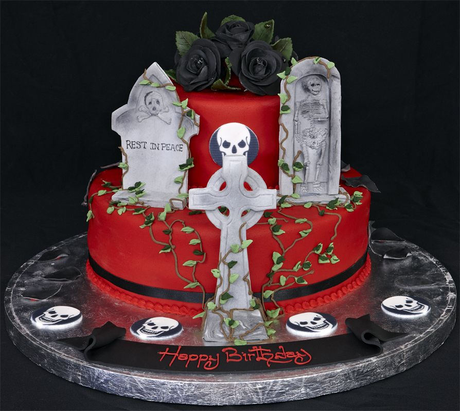 Gothic Birthday Cake Cakepins Cakespies Pinterest Skull
