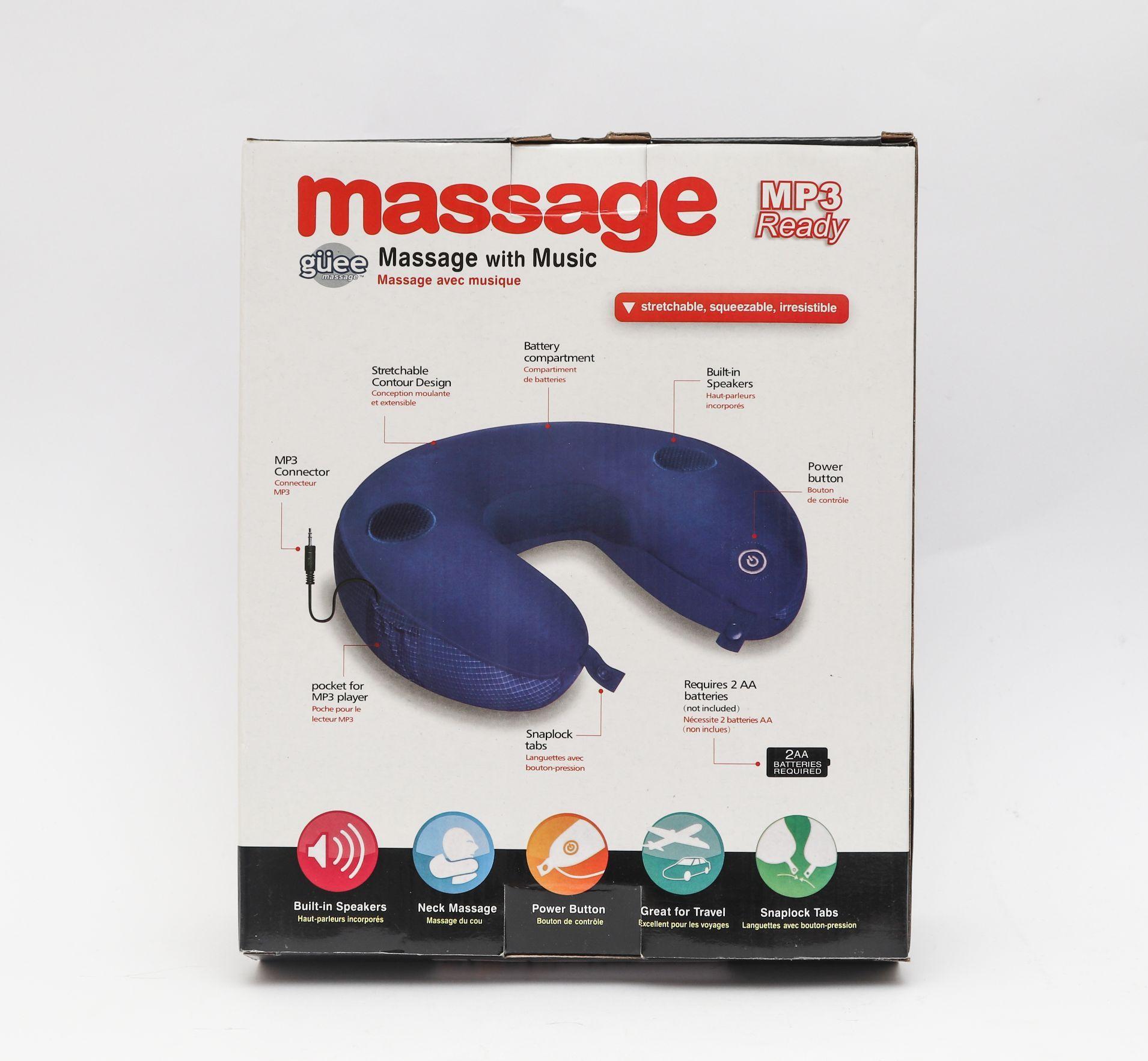 وسادة للرقبة Massage Guee بسعر 195ج بدل من 270ج Neck Massage Travel Pillow Built In Speakers