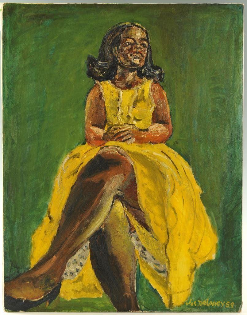 Joseph Delaney Woman In Yellow Dress Jun 30 2012 Case Antiques Inc Auctions Appraisals In Tn Female Art Dress Painting Yellow Dress