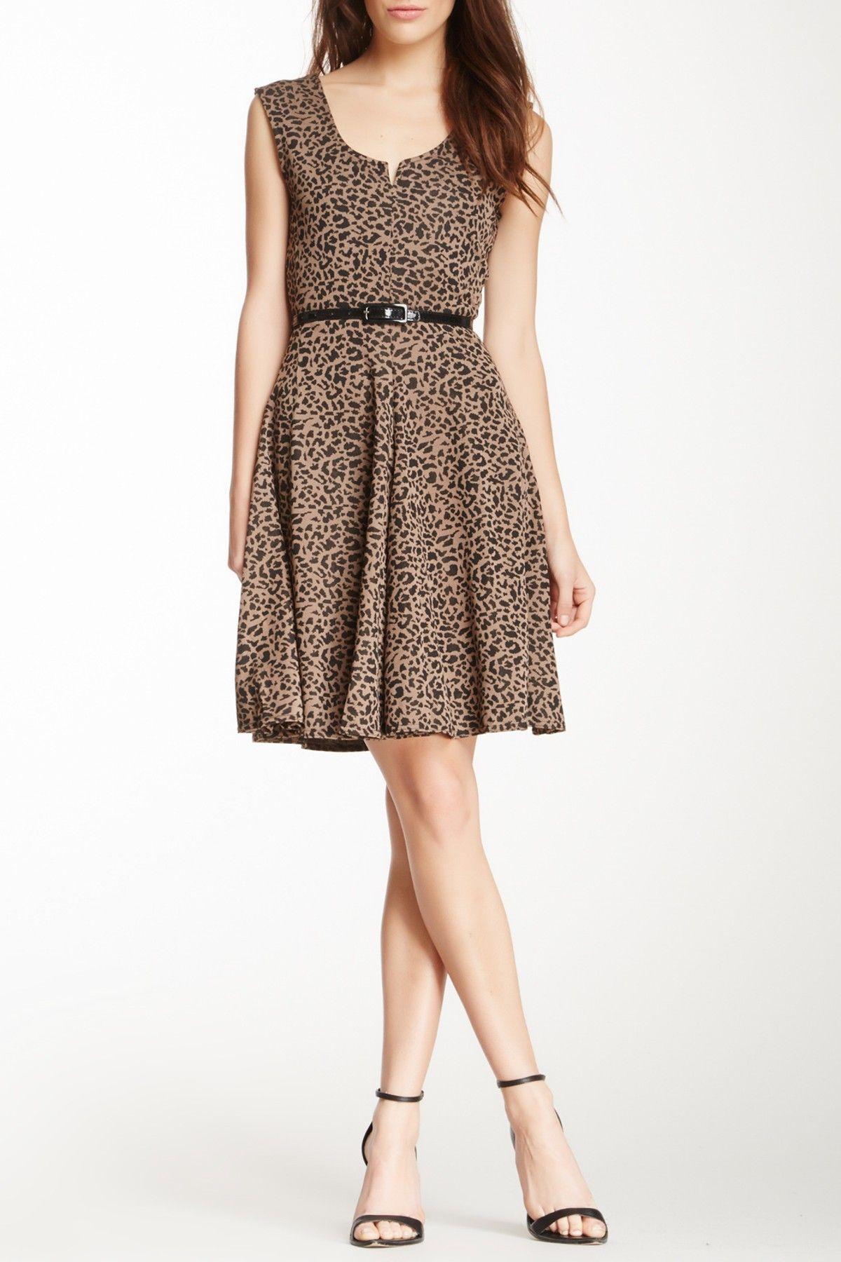 Papillon Belted Animal Print Dress | Animal print dresses