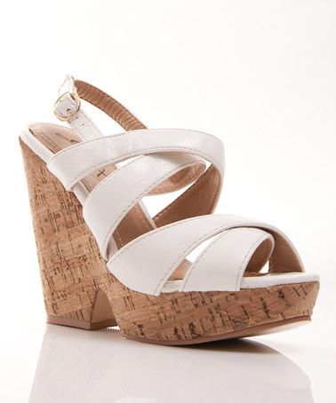 Take a look at this White Hey There 08 Sandal by Gomax on #zulily today!