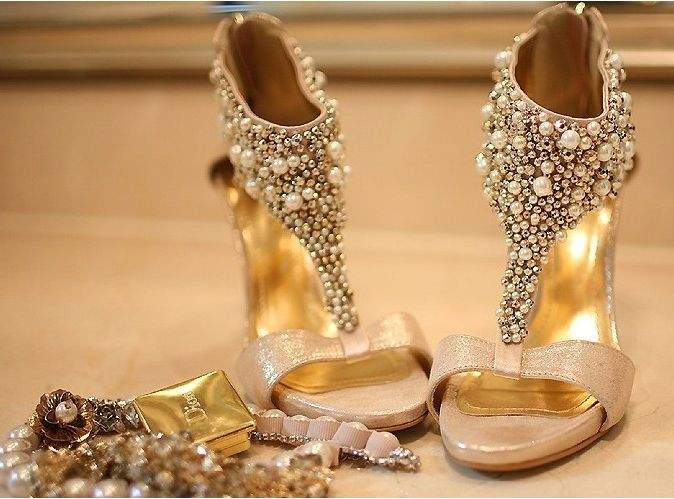 e8a22ef418397 Gold wedding shoes star champagne color bride wedding shoes ...