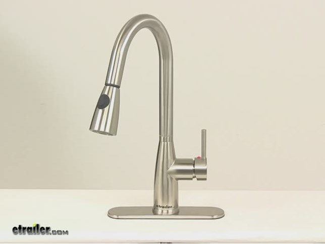 rv kitchen faucets cast iron undermount sink side lever faucet with pull down spout brushed nickel patrick distribution 277 000129