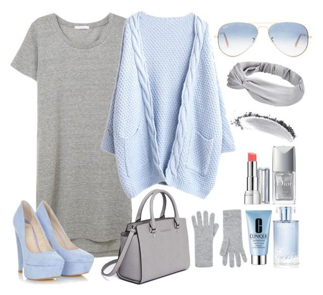 """""""."""" by erixx ❤ liked on Polyvore featuring Ray-Ban, NARS Cosmetics, MICHAEL Michael Kors, Harrods, Clinique, Orlane, Christian Dior and Revlon"""