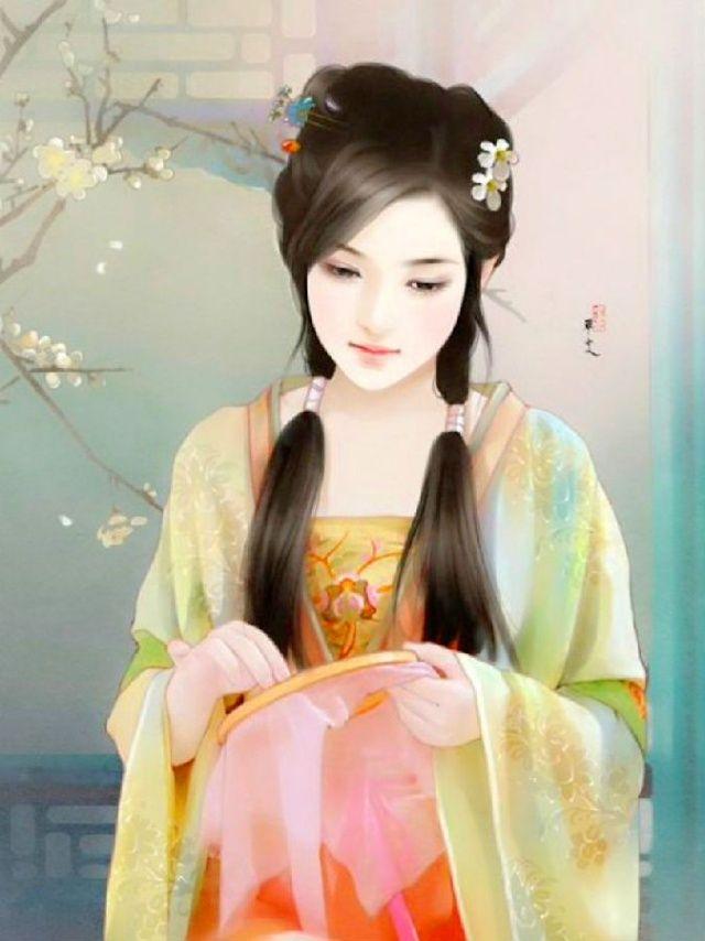 Chen Shu Fen 陳淑芬 Taiwan 中国美人画 中国美人 アート Y イラスト