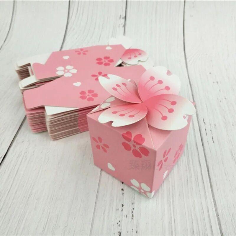 Günstige 10 Stücke Japanischen Romantische Sakura Candy Box