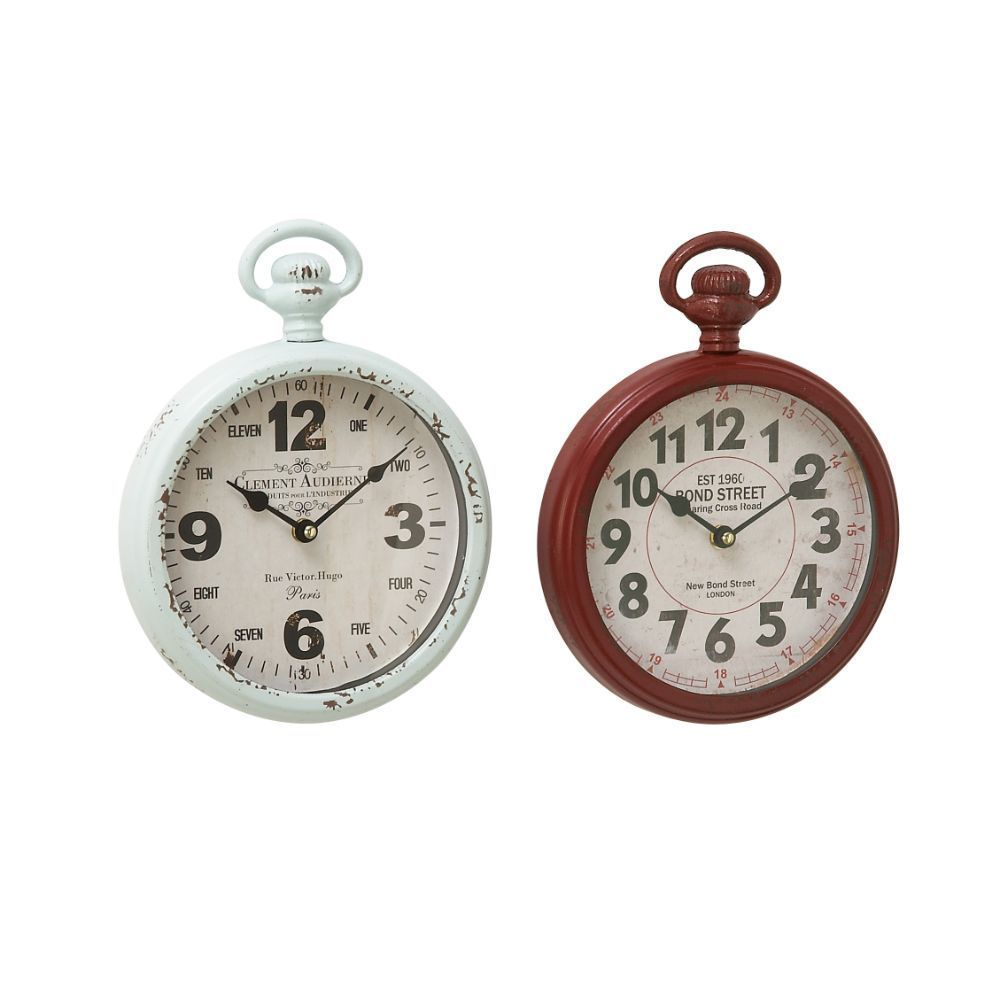 Offer a timeless touch to walls of your as you hang these clocks. Classy in looks these clocks are made form good quality materials which will keep to in prim condition for ages. These clocks are roun