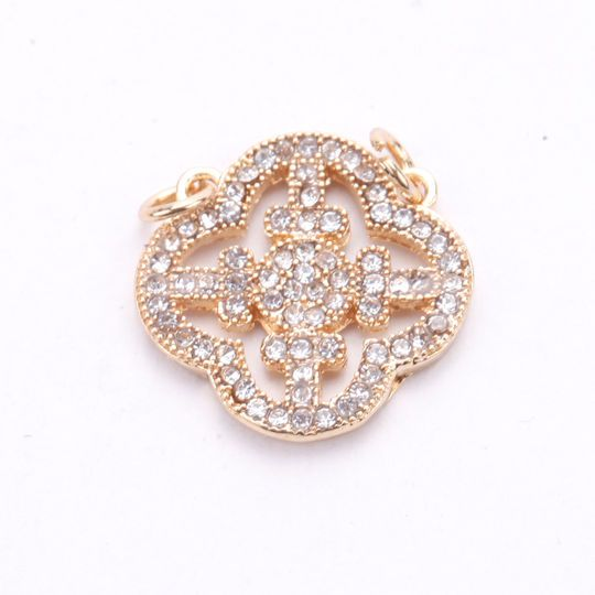 Buy The Signature Color Shop Gold Clover Pave Connector By Bead Landing At Michaels Com Incorporate This Pretty Clover Connector By Bead Landing In Your Jewel
