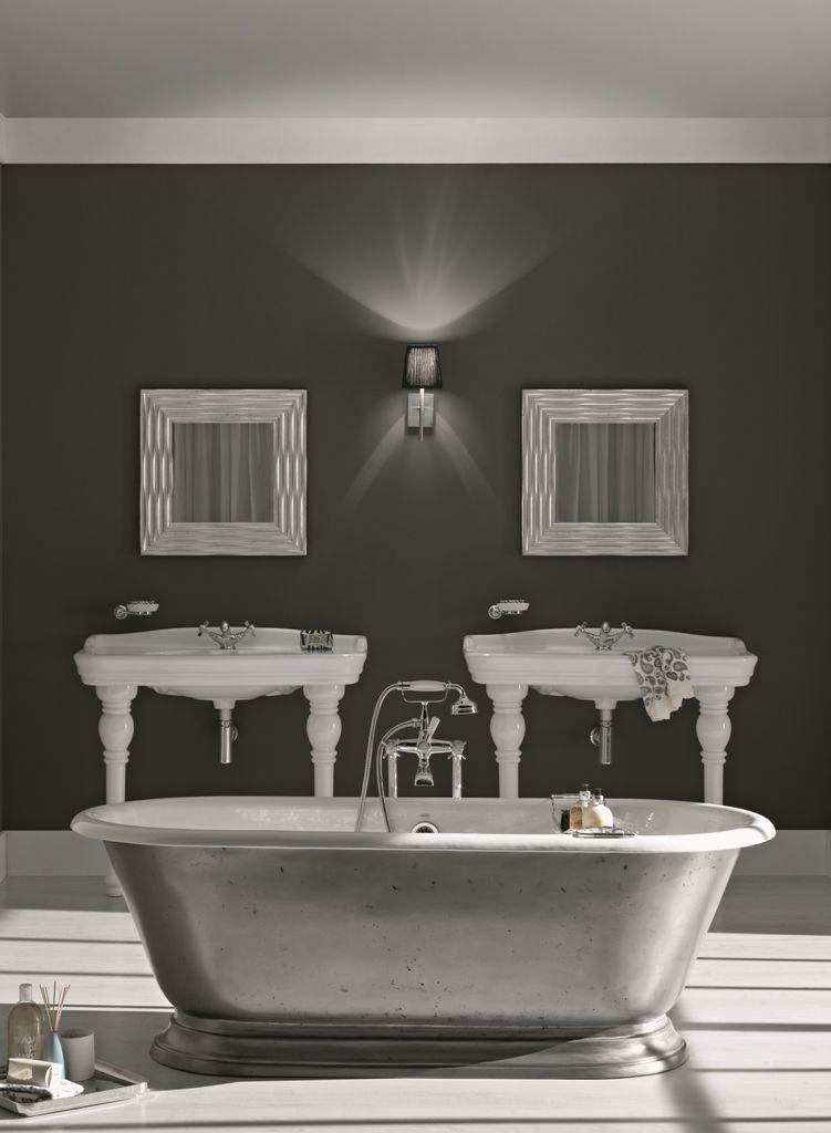 Vasca da bagno in ghisa di design con finitura lucida for Vasca bagno design
