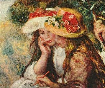 Two Girls In A Garden Cross Stitch Pattern Pdf Format Etsy Renoir Paintings Impressionist Art August Renoir