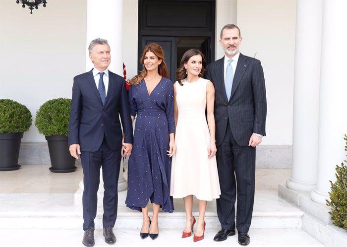 Los Reyes Arrancan Su Visita A Argentina Con Una Cálida Bienvenida De Mauricio Macri Y Juliana Awada Letizia De España Cena De Gala Rey