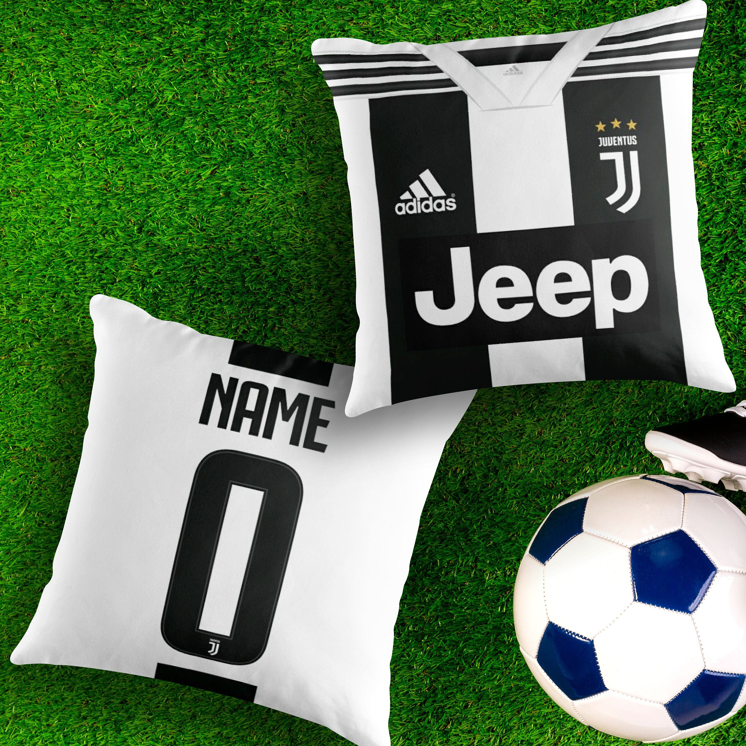 the best attitude 2cfb7 fdf2a Personalised Juventus FC Home Jersey Throw Pillow Cushion ...