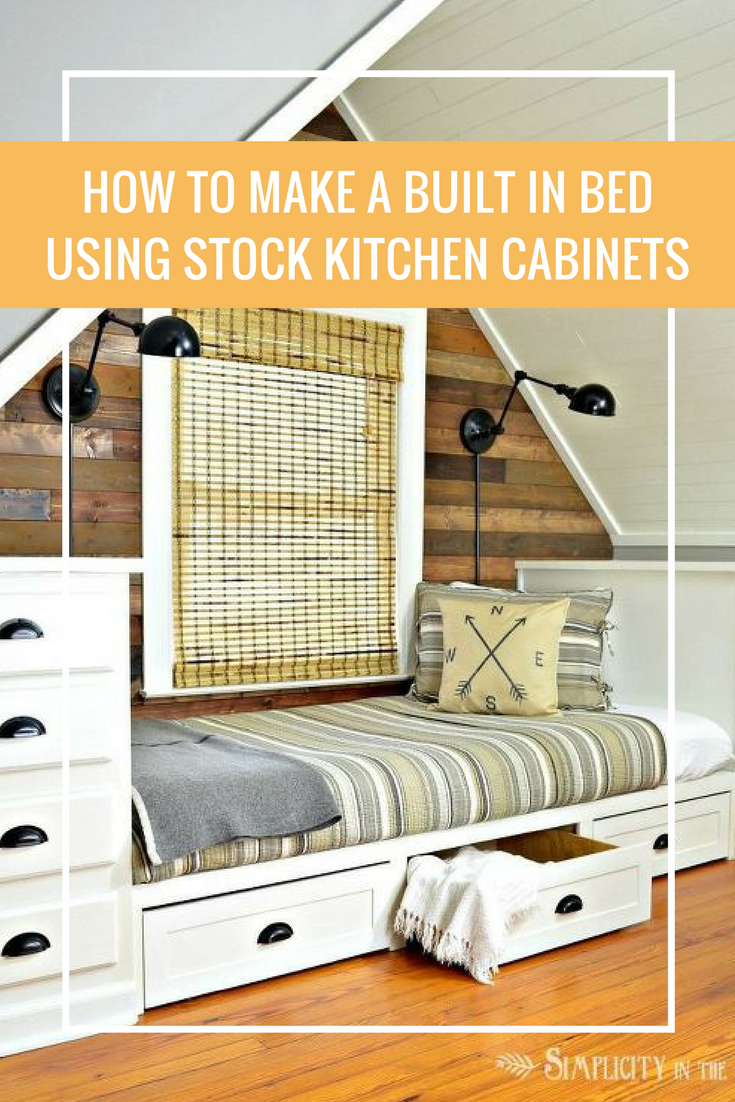 This kitchen cabinet idea will give you so much more bedroom storage
