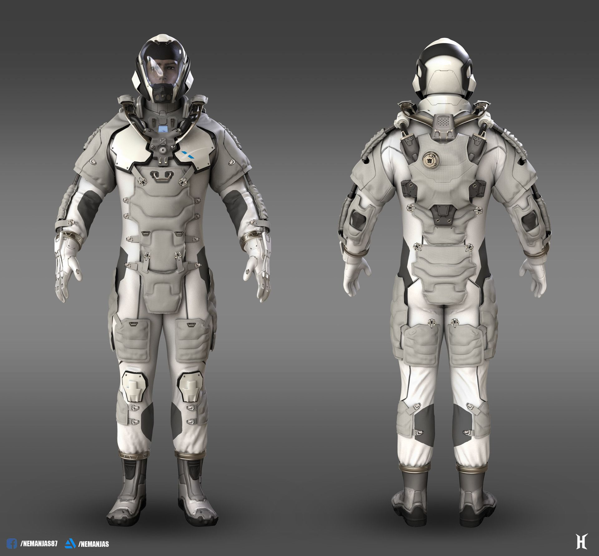 ArtStation - SPACEX Mars EVA suit, Nemanja Stankovic ...