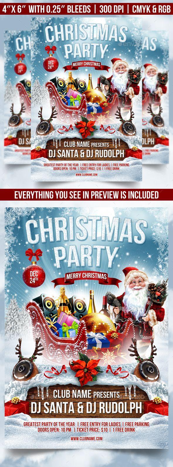 Merry Christmas Flyer Template PSD #design Download: http://graphicriver.net/item/merry-christmas-flyer-template/13641262?ref=ksioks