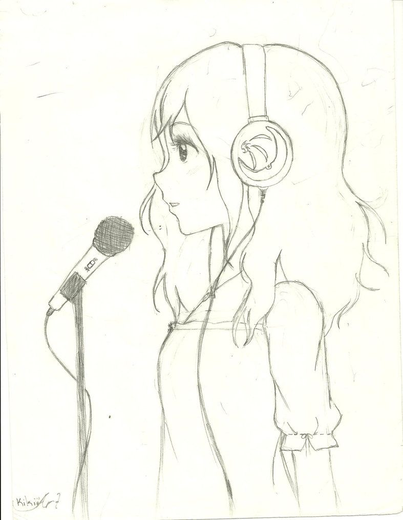 Singer Drawing Google Search Girl Drawing Sketches Cartoon