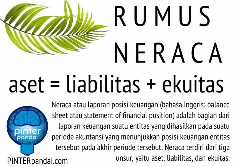 Rumus Neraca Akuntansi Balance Sheet Contoh Soal Jawaban Neraca Akuntansi Laporan Keuangan