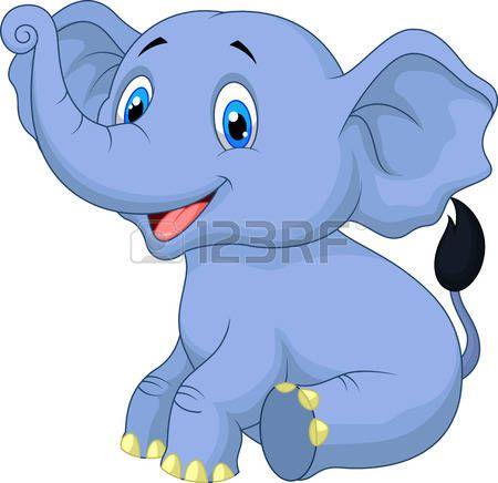 Elefante lindo beb sentado de dibujos animados cosas - Fotos de elefantes bebes ...