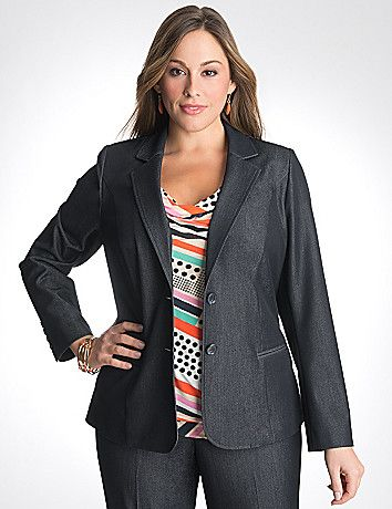 d34e785e27af Refined denim jacket elevates your office or weekend look with a  sophisticated shape and modern appeal. Classically detailed with notched  lapels, ...