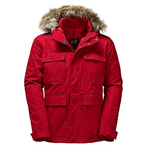 Jack Wolfskin Mens Pt Barrow Jacket Indian Red 3xlarge You Can Find Out More Details At The Link O Red Jacket Men Mens Outdoor Clothing Waterproof Jacket Men