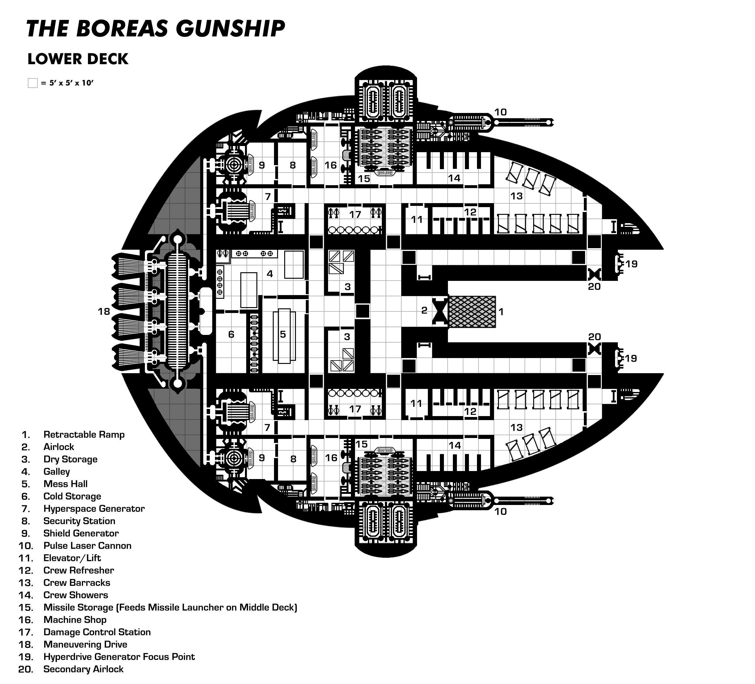 Starship deckplan google search starship deck plans the boreas gunship lower deck baanklon Choice Image