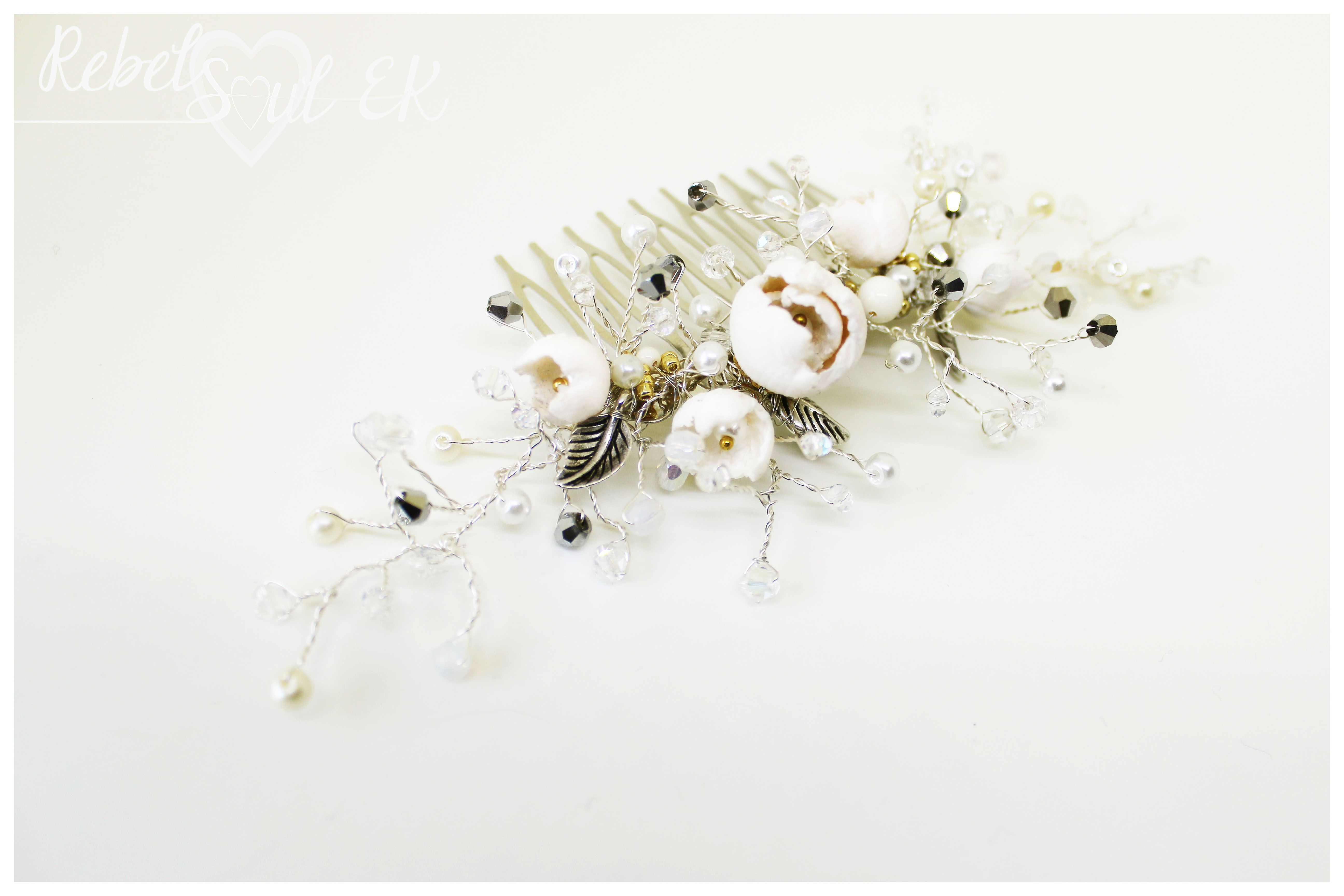 Hair accessory for bride wedding jewelry by RebelSoulEK