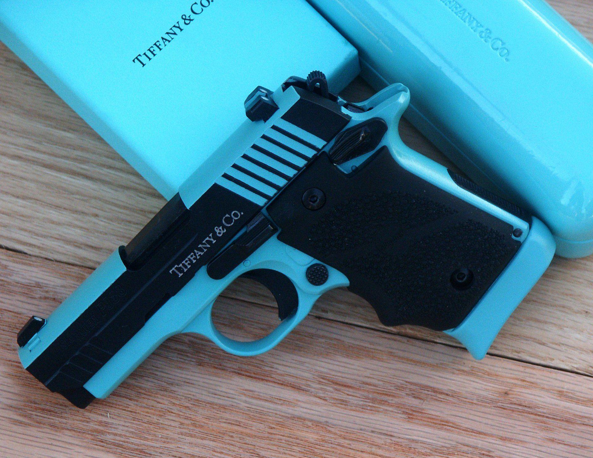 tiffany blue pistol - HD1920×1483