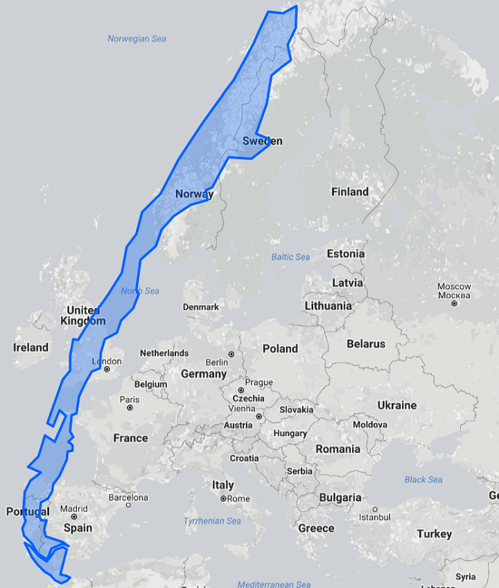 Chile Is a Ridiculously Long Country – Europe & US Size ...