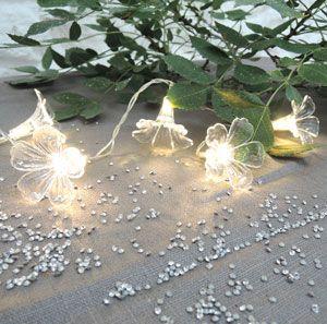 Guirlande 20 leds fleurs blanches Jardin d\'Ulysse | DECO NOËL ...