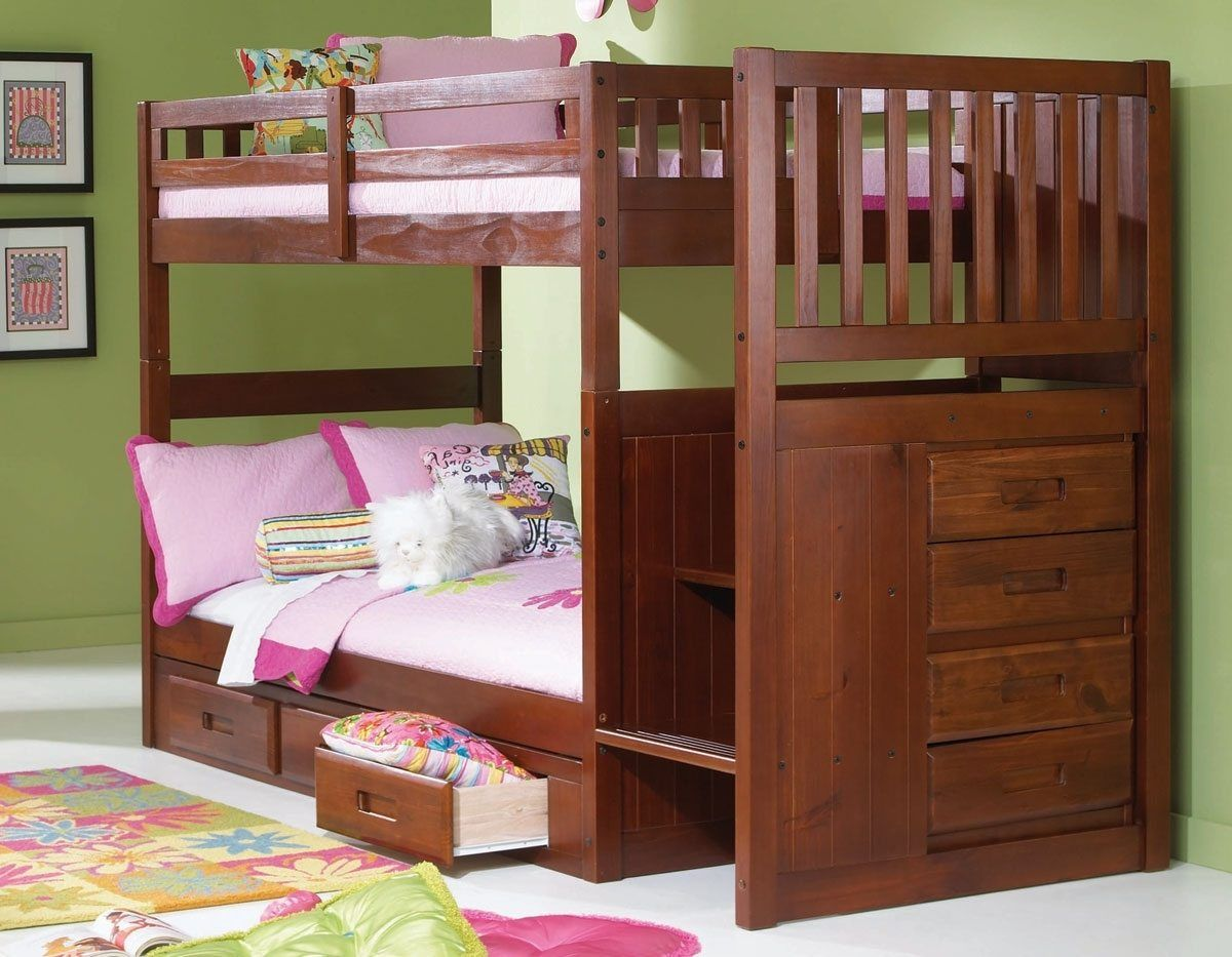 Twin loft bedroom ideas   Merax Twin Over Twin Bunk Bed with Trundle  Interior Design